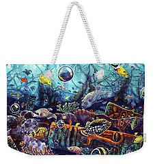 Sunken Tiki Reef Weekender Tote Bag
