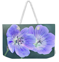 Weekender Tote Bag featuring the photograph Sunny Blooms by Leda Robertson