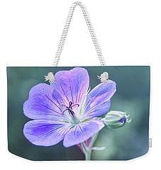Weekender Tote Bag featuring the photograph Sunny Blossom by Leda Robertson