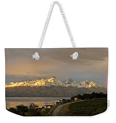 Weekender Tote Bag featuring the photograph Sunrise Across Beagle Channel, Patagonia by Mark Duehmig