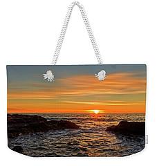 Sunrise By The Mediterranean Sea In Oropesa, Castellon Weekender Tote Bag