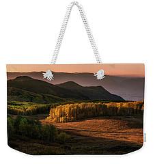 Sunrise In The Fall Mountains Of Utah Weekender Tote Bag