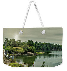 Weekender Tote Bag featuring the photograph Sunrise Over Casco Bay by Guy Whiteley