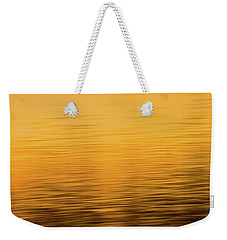Weekender Tote Bag featuring the photograph Sunrise Reflections Abstract by Dan Sproul
