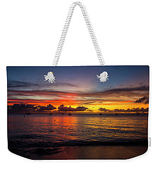 Weekender Tote Bag featuring the photograph Sunset 4 No Filter by Stuart Manning