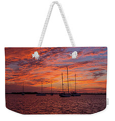 Weekender Tote Bag featuring the photograph Sunset Across The Keys by Mark Duehmig