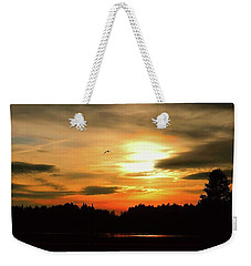 Sunset And Silhouette Weekender Tote Bag