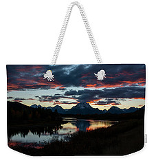 Weekender Tote Bag featuring the photograph Sunset At Oxbow Bend by Scott Read