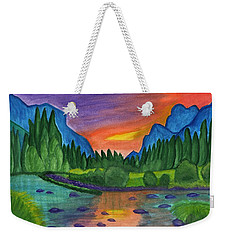 Sunset By The River Weekender Tote Bag