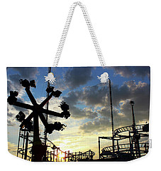 Sunset On Coney Island Weekender Tote Bag