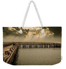 Sunset On Pier Weekender Tote Bag