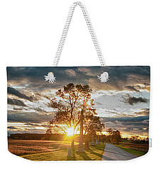 Sunset On The Field Weekender Tote Bag