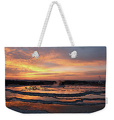 Sunset Over Great Fountain Geyser Weekender Tote Bag
