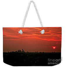 Sunset Over Philly Weekender Tote Bag