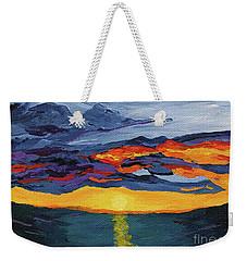 Sunset Streak Weekender Tote Bag