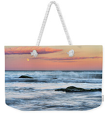 Super Moon And Sunset At Sozopol Town Beach Weekender Tote Bag