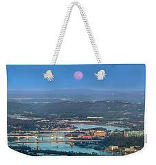 Super Moon Over Chattanooga Weekender Tote Bag