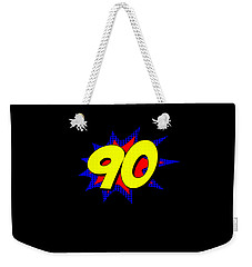 Superhero 90 Years Old Birthday Weekender Tote Bag