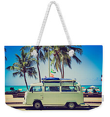 Weekender Tote Bag featuring the photograph Surfer Van by Top Wallpapers