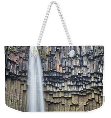 Weekender Tote Bag featuring the photograph Svartifoss Portrait Iceland by Nathan Bush