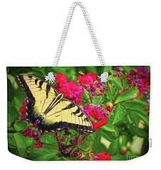 Swallowtail Among Flowers Weekender Tote Bag