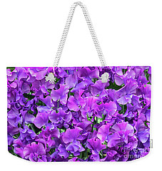 Weekender Tote Bag featuring the photograph Sweet Pea Katie Alice Flowers by Tim Gainey