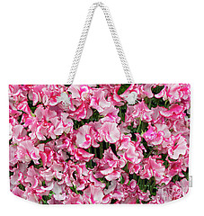 Weekender Tote Bag featuring the photograph Sweet Pea Linda Flowers by Tim Gainey