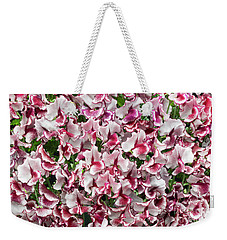 Weekender Tote Bag featuring the photograph Sweet Pea Lisa Marie Flowers by Tim Gainey