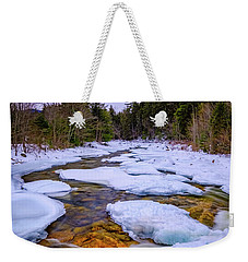 Swift River Winter  Weekender Tote Bag