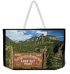 Switzerland Of America Weekender Tote Bag