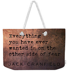Take The Leap Quote Weekender Tote Bag