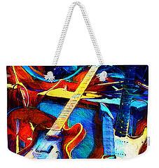 Weekender Tote Bag featuring the digital art Taking A Break by Pennie McCracken