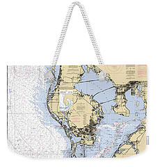 Tampa Bay And St. Joseph Sound Noaa Chart 11412 Weekender Tote Bag