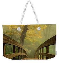 Tanawha Trail Blue Ridge Parkway - Foggy Autumn Weekender Tote Bag