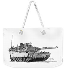 Weekender Tote Bag featuring the painting Tank by Betsy Hackett