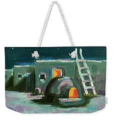 Taos At Night Weekender Tote Bag