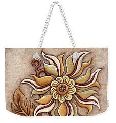 Tapestry Flower 1 Weekender Tote Bag