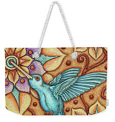 Tapestry Hummingbird Weekender Tote Bag