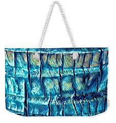 Teal Palm Bark Weekender Tote Bag