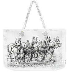 Weekender Tote Bag featuring the photograph Team Work 2 by Brad Allen Fine Art