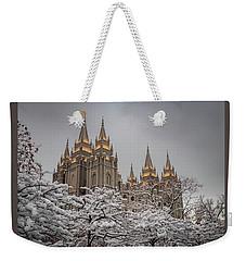 Temple In The Snow Weekender Tote Bag