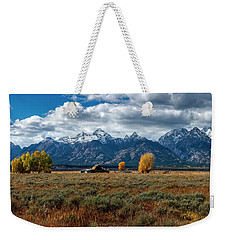 Weekender Tote Bag featuring the photograph Tetons And Mormon Row by Scott Read