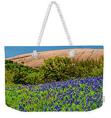 Texas Bluebonnets And Enchanted Rock 2016 Weekender Tote Bag
