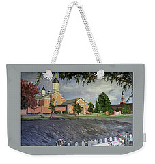 Thank Thee For The Church And The Temple  Vernal Utah Temple Weekender Tote Bag