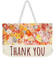 Weekender Tote Bag featuring the painting Thank You #2 by Maria Langgle