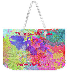 Weekender Tote Bag featuring the photograph Thank You So Much Hibiscus Abstract by Kay Brewer