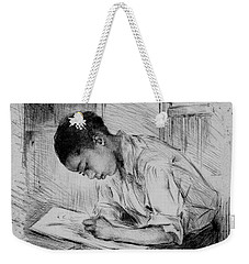 Weekender Tote Bag featuring the photograph The Artist by Pennie McCracken