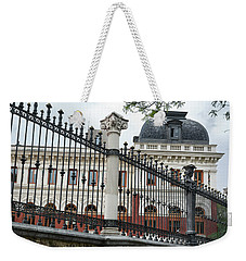 The Back Of The Ministry Of Agriculture Building In Madrid Weekender Tote Bag