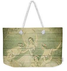 The Ballet Dancers Shabby Chic Vintage Style Portrait Weekender Tote Bag