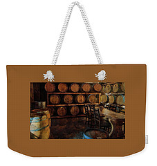 Weekender Tote Bag featuring the photograph The Barrel Room by Thom Zehrfeld